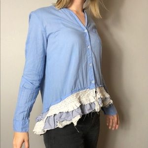 Anthropologie Tops - Ruffle Button Down 💙 Anthropologie 💙 size: 6